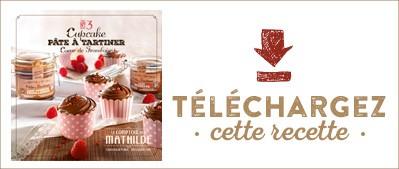 Les Cahiers de Mathilde : Cupcake pâte à tartiner coeur de framboise