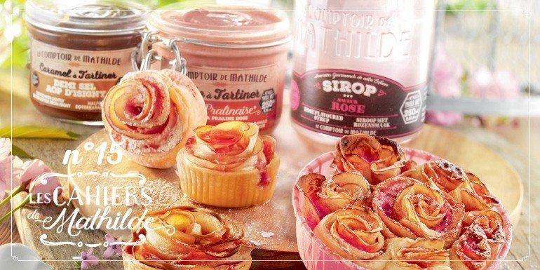 Roses de pomme à la pralinaise