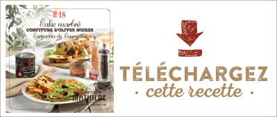 Les Cahiers de Mathilde : Cake marbré confiture d'olives noires carpaccio de courgettes